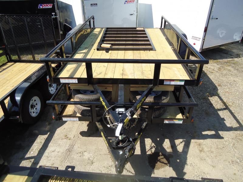 2018 Big Tex Trailers UT 7X12 70PI 12XBK4RG BLACK Utility Trailer