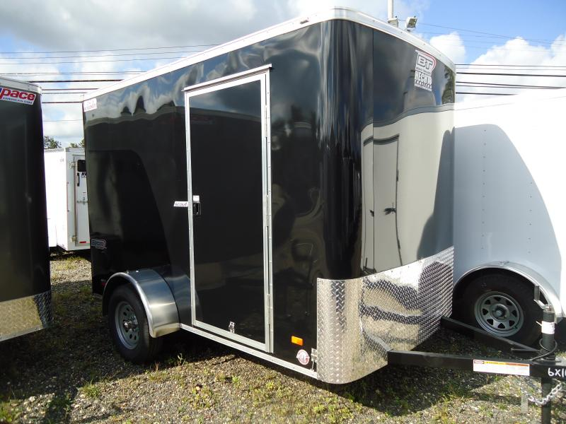 "2019 Bravo Trailers 6X10 SC SA 6""X LD RAMP APP BLACK Enclosed Cargo Trailer"