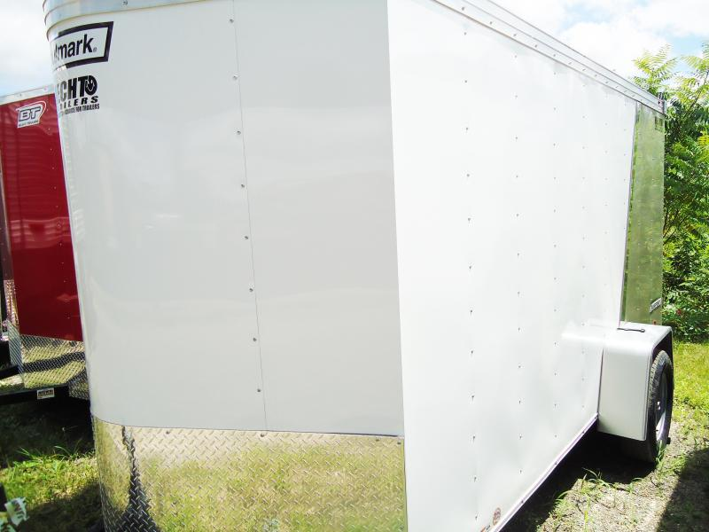 2017 Haulmark 6X12 TSTV DS2 LD RAMP CHAMPAGNEWHITE Enclosed Cargo Trailer