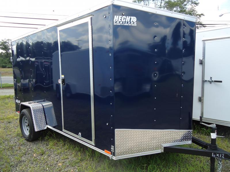 2019 Pace American 6X12 OBDLX 24 V SLOPE RAMP SVTS BLUE Enclosed Cargo Trailer