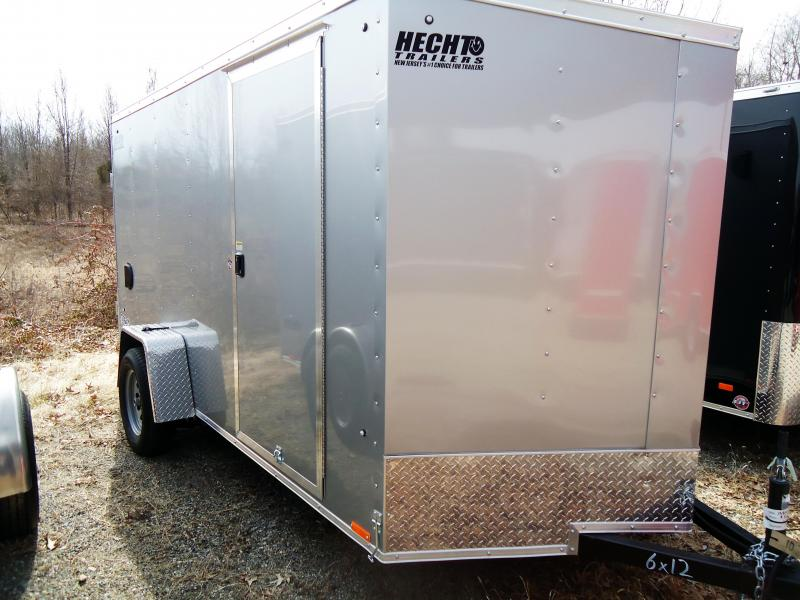 2020 Pace American 6X12 OBDLX SI2 24VS RAMP SVNTS SILVER Enclosed Cargo Trailer