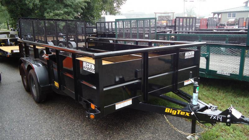 2020 Big Tex Trailers UT 7X14 70TV 14BK4RG BLACK Utility Trailer