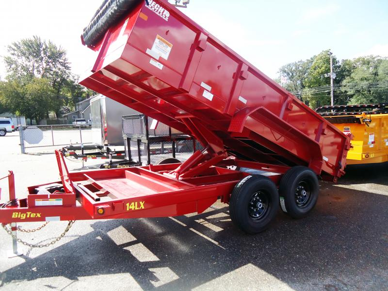 2019 Big Tex Trailers DT 7X14 14LX 14RD 7SIRPD TARP RED Dump Trailer