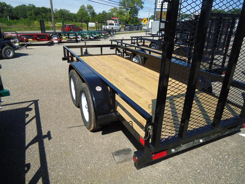 2018 Big Tex Trailers UT 5X14 45LA 14BK4RG BLACK Utility Trailer