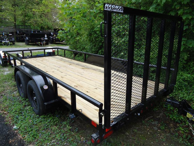 2019 Big Tex Trailers UT 6.5X16 60PI 16BK 4RG BLACK Utility Trailer