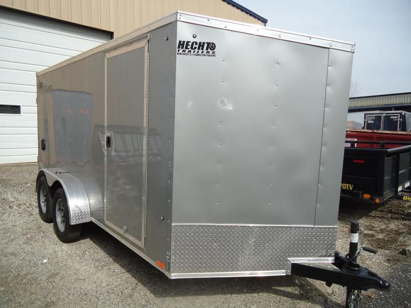 2020 Pace American 7X14 OBDLX 30VS SVNTS SILVER Enclosed Cargo Trailer