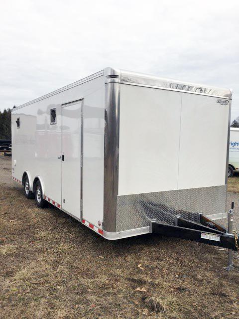"2018 Bravo Trailers 8.5X22 ST TA3 6""X HD RAMP CABINET WHITE Car / Racing Trailer"