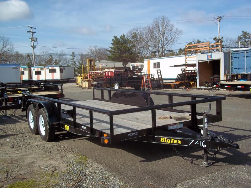 2018 Big Tex Trailers UT-7X16 70PI 16XBK 4RG ADJ COUP BLACK Utility Trailer