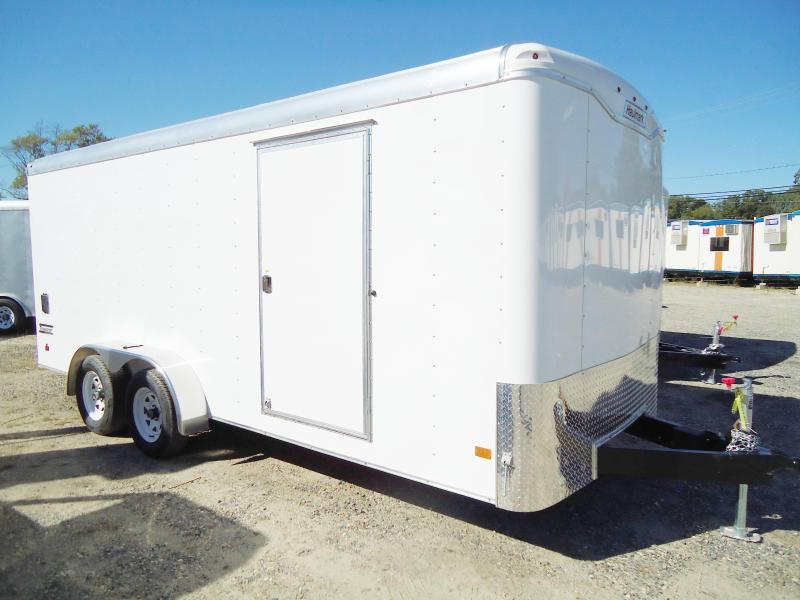 2018 Haulmark 7X18 TST WT2 RAMP RS VNTS DRNG WHITE Enclosed Cargo Trailer