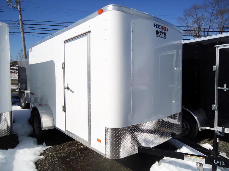 2018 Bravo Trailers6X12 HR HERO SA LD RAMP SVNT WHITE Enclosed Cargo Trailer
