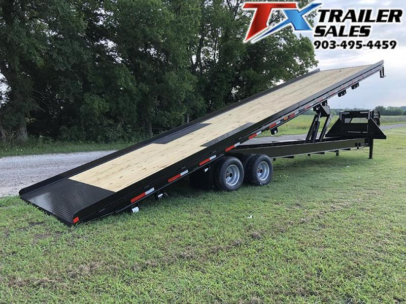 2020 East Texas 102 X 40 GOOSENECK LOW-PRO DECK OVER TILT 24K Flatbed Trailer Container Hauler