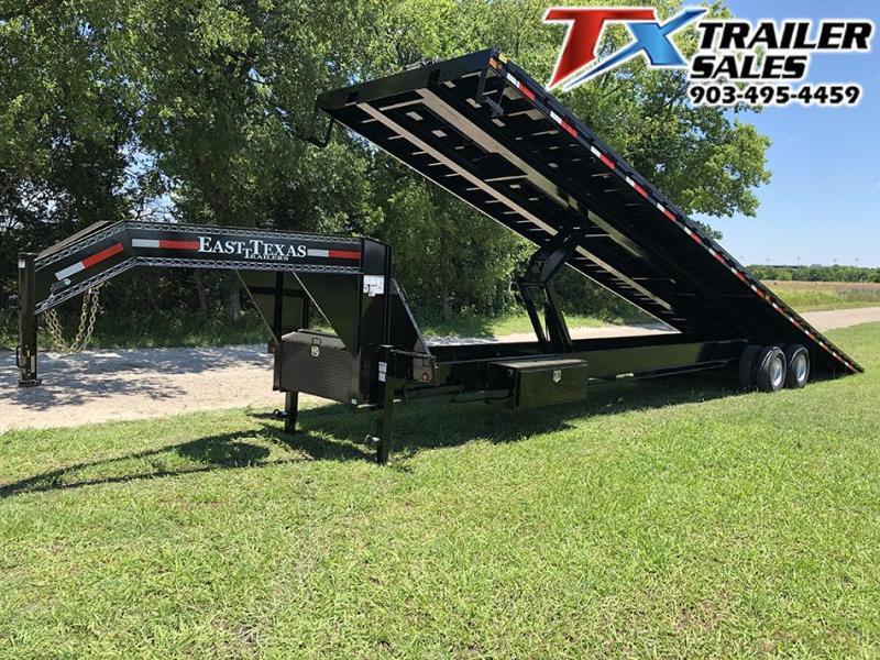 2020 East Texas 102 X 40 GOOSENECK LOW-PRO DECK OVER TILT 20K Flatbed Trailer Container Hauler