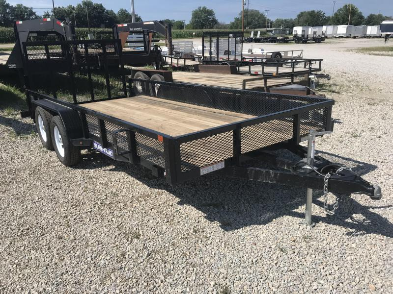 2018 Sure-Trac 7x16 Utiltiy Flatbed Trailer