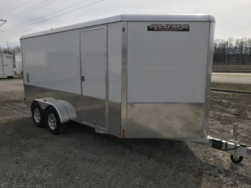 2017 Aluma 7x14 Enclosed Motorcycle Trailer