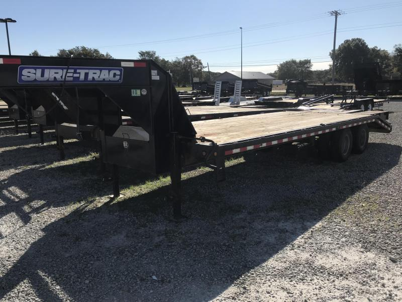 2013 Sure-Trac 85x205 Gooseneck Flatbed Trailer