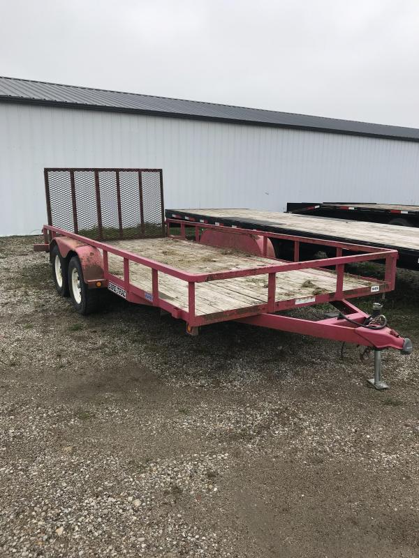 2007 Sure-Trac 7x16 Utility Flatbed Trailer
