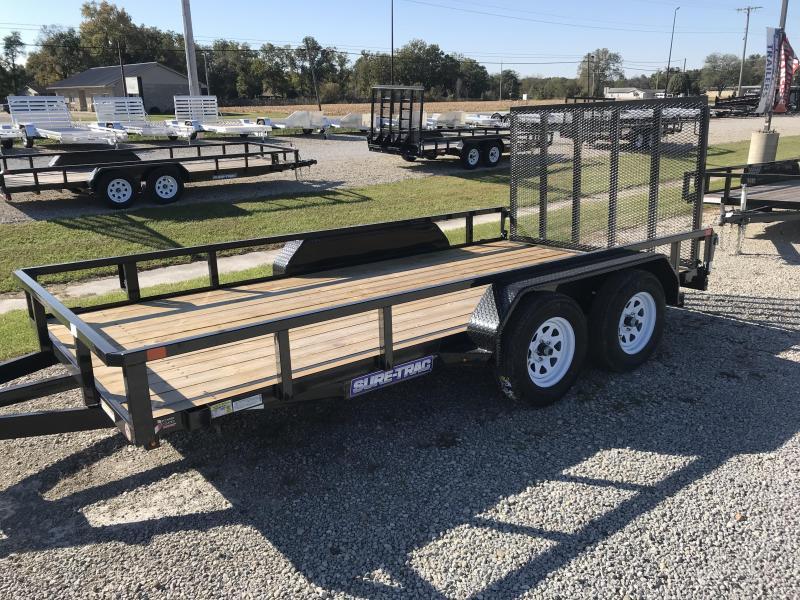 2019 Sure-Trac ST8214TA-B-030 Flatbed Trailer