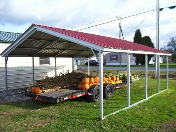 Portable Carports 18x21 : Home trailers portable storage buildings and carports