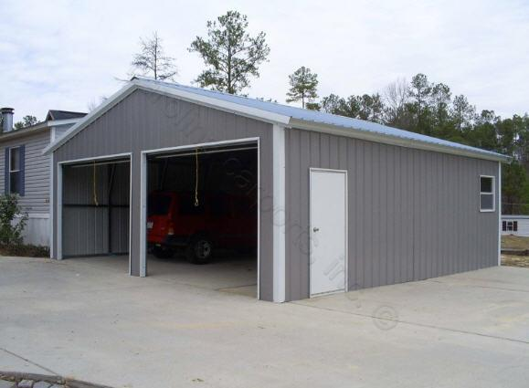 24x30x9 garage shop g58 trailers portable storage for Garage and shop buildings