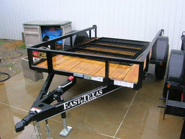 East Texas 5X8 Utility Trailer 3500# Axle