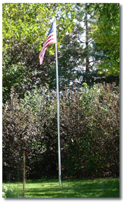 Silver Estate 22 ft flagpole
