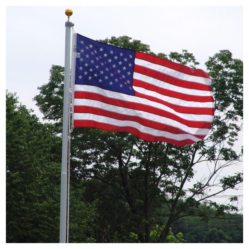 Silver Elite 20 ft flagpole