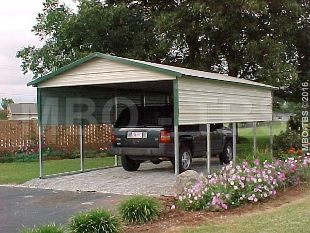 12X20X7 VERTICAL CARPORT #CP017