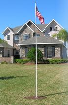Silver Estate 25 ft flagpole