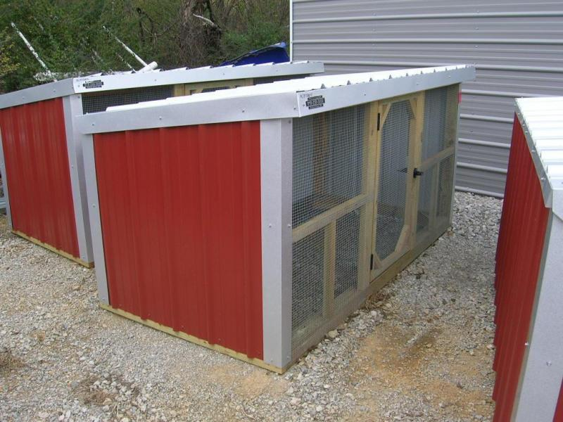 4x8 Wood Frame Mini Loafing Shed