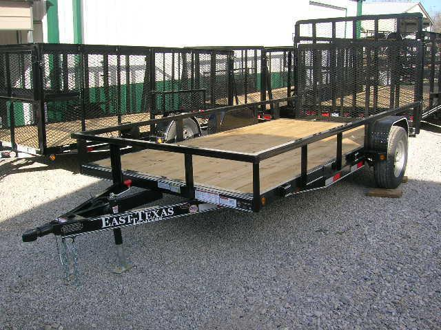 East Texas 77x14 Utility Trailer 5200# Axle