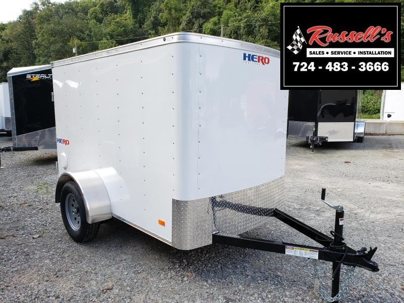 2020 Bravo Trailers Hero 5x8 Barn Door Enclosed Cargo Trailer