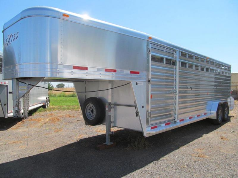 2018 Exiss Trailers 7024 ST Livestock Trailer