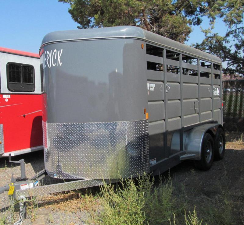 2018 Maverick 16 Stock Bumper Pull Livestock Trailer