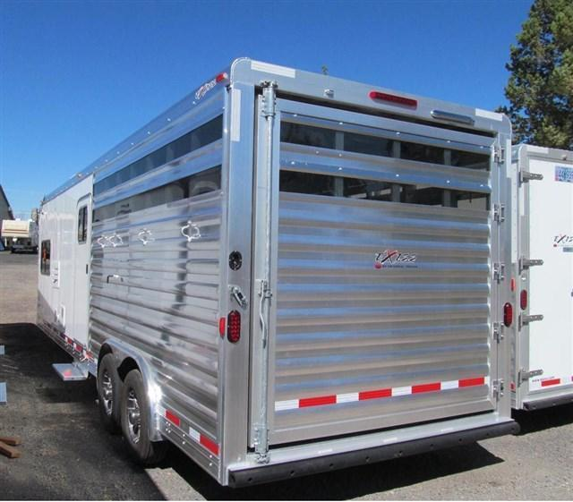 2017 Exiss 828 Stock Combo Horse/Livestock Trailer