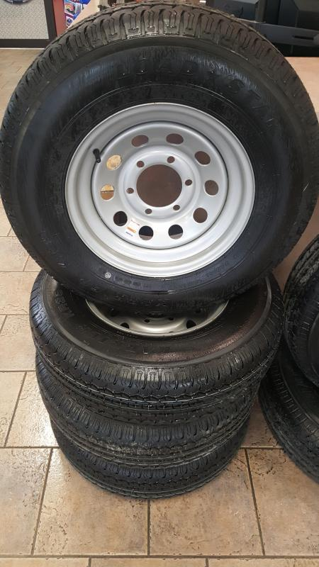 ST225/75R15 Radial Trailer Tire & Gray Rim