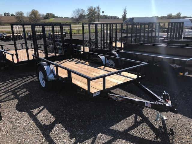 "2020 H and H Trailers 76""x10' Utility Rail Side Single Axle"