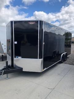 "2020 H and H Trailers 101""x24' Black Cargo 5.2k Axles Enclosed 5.2k Axles Flat Top V-Nose Car Hauler Trailer"