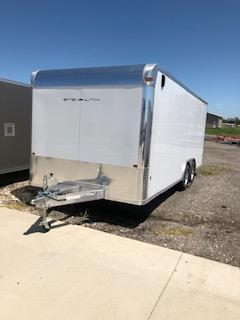 2019 CargoPro Trailers 8.5'x20' White 5.2k Tandem Axle Flat Nose Car / Racing Trailer