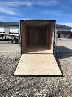 2019 H and H Trailers 7x14 Cargo Charcoal Flat Top V-Nose Tandem Axle
