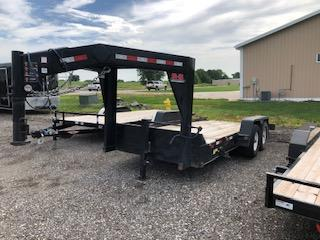 USED 2019 B-B Trailers 8.5x14+2 Gravity Tilt Gooseneck With 2' Stationary Deck