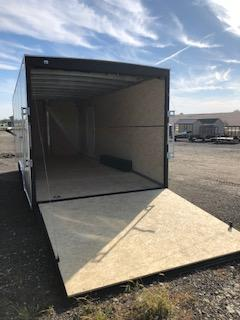 2019 H and H Trailers 8'x18' Cargo White Flat Top V-Nose Tandem 5.2k Axles