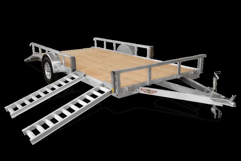 "2020 H and H Trailers 82""x14' Aluminum ATV 3.5k Axle Rail Side Utility Trailer"