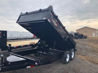 "2020 H and H Trailers 83""x14' Black 7k Axles Dump Box Trailer"