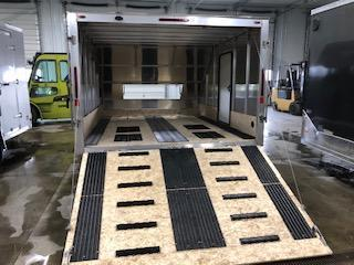 """2020 Legend Manufacturing 101""""x13' Charcoal Enclosed Hybrid  Snowmobile Trailer"""