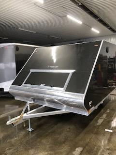 "2020 Legend Manufacturing 101""x13' Charcoal Enclosed Hybrid  Snowmobile Trailer"