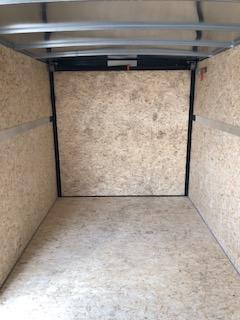 2020 H and H Trailers 7'x16' Cargo Black Flat Top V-Nose Tandem Axle