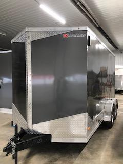 2020 RC Trailers 7'x14' Cargo Charcoal Flat Top V-Nose Enclosed Cargo Trailer