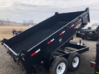 "2020 H and H Trailer 83""x12' Black Tandem Axle DBW Dump Box"