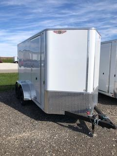2020 H and H Trailers 6'x12' White Cargo 3.5k Axles Enclosed Flat Top V-Nose Trailer