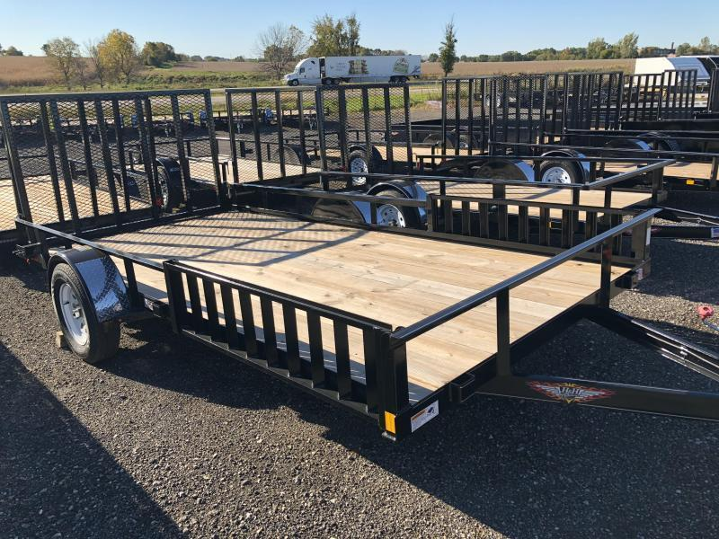"""2020 H and H Trailers 82""""x14' ATV Rail Side 3.5k Axle Utility Trailer"""